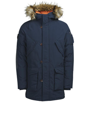 HOODED PARKA WITH CONTRAST LINING