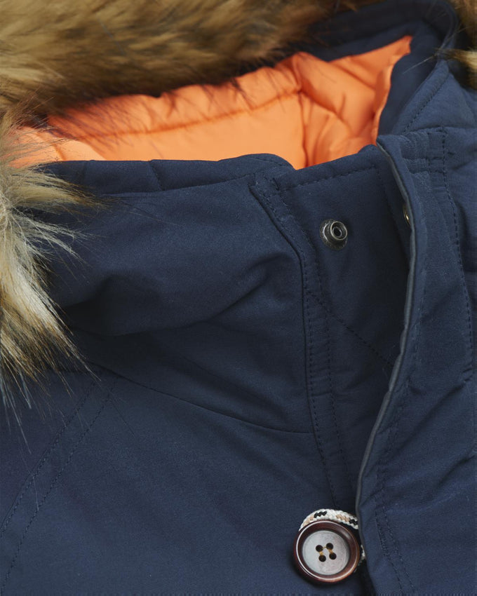 HOODED PARKA WITH CONTRAST LINING TOTAL ECLIPSE