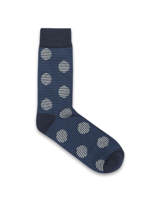 DOTS & STRIPES SOCKS NAVY BLAZER