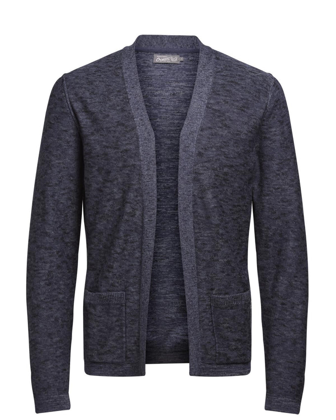 HEATHERED OPEN KNIT CARDIGAN TOTAL ECLIPSE