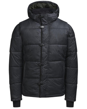 QUILTED JACKET WITH DETACHABLE SLEEVES