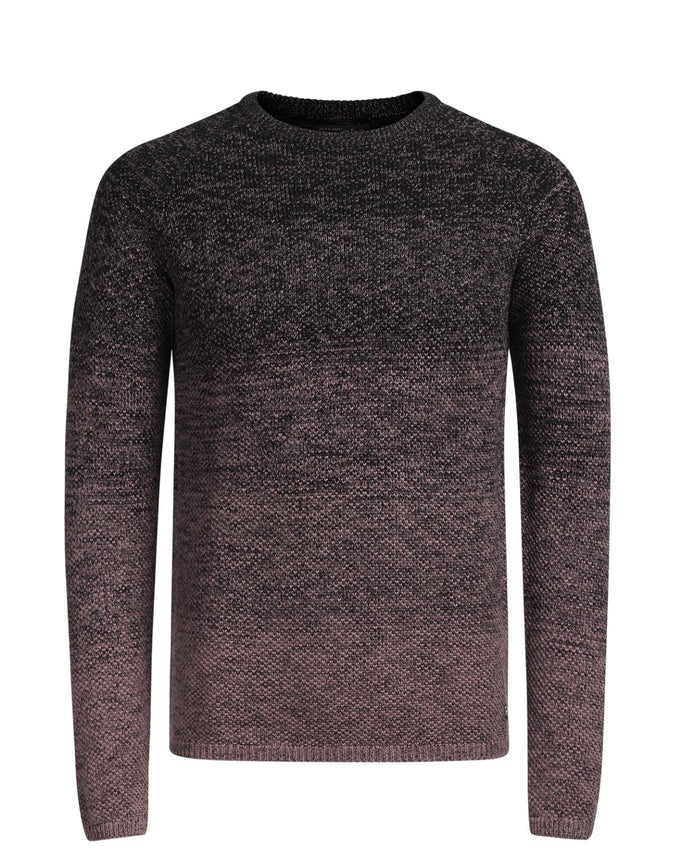 GRADIENT STYLE KNIT SWEATER ROSE TAUPE