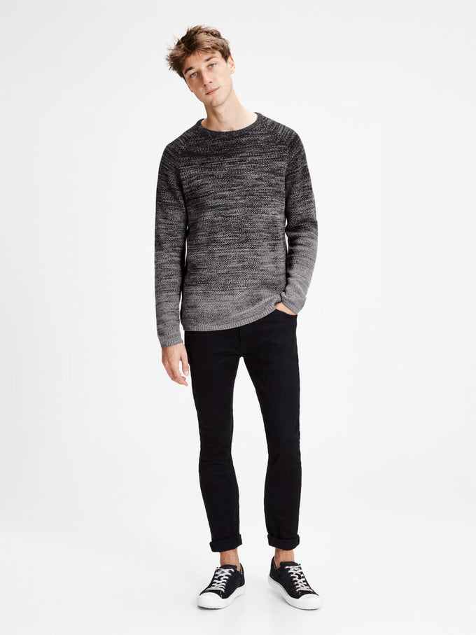 GRADIENT STYLE KNIT SWEATER TAP SHOE