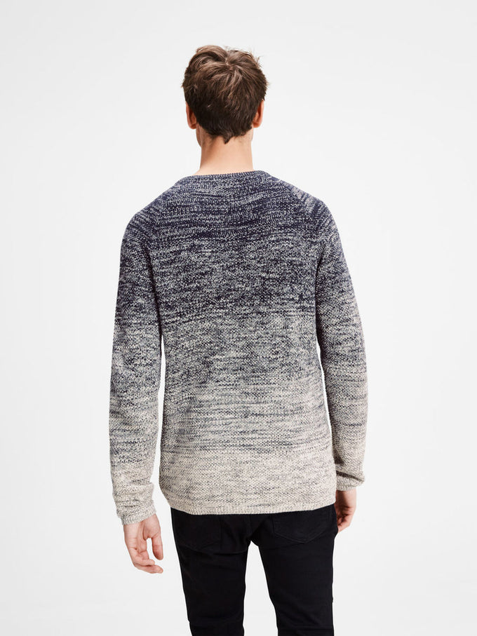 GRADIENT STYLE KNIT SWEATER TOTAL ECLIPSE