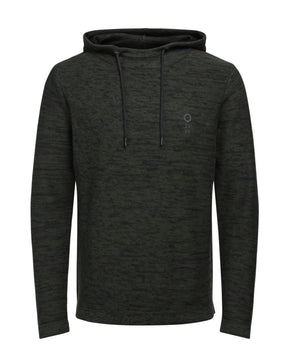 HEATHERED HOODIE WITH EMBROIDERED LOGO