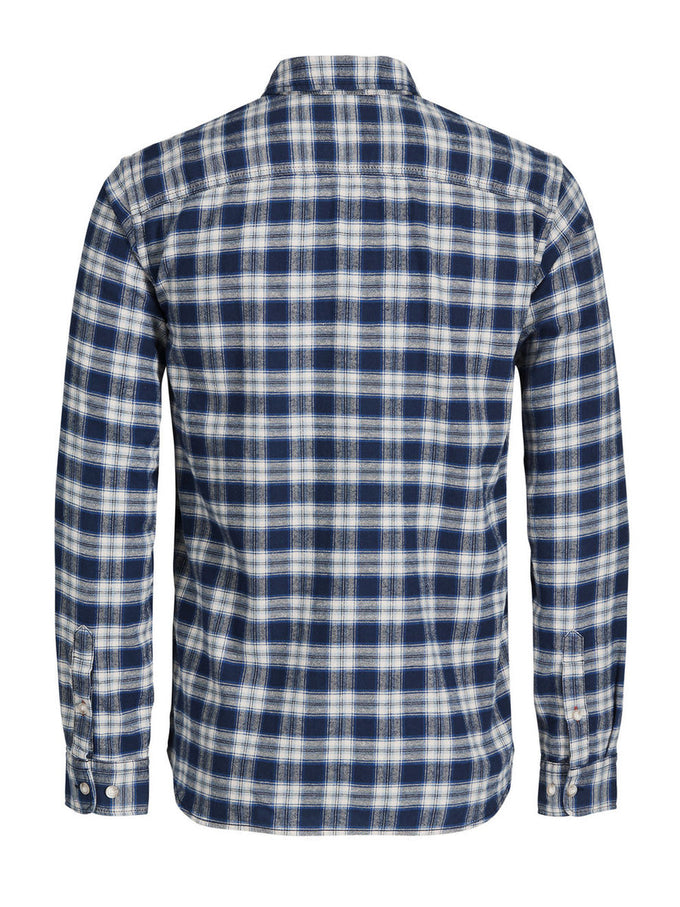 CHECKERED SLIM FIT VINTAGE SHIRT PARISIAN NIGHT