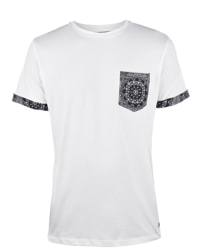 JJORPAISLEY T-SHIRT WHITE