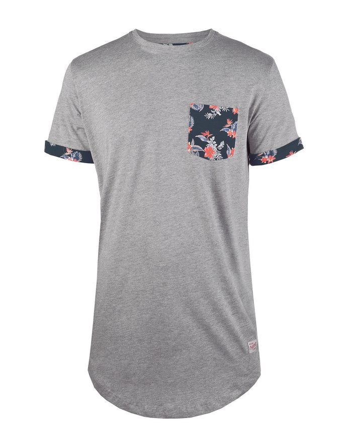 JJORPOCKETS T-SHIRT LIGHT GREY MELANGE