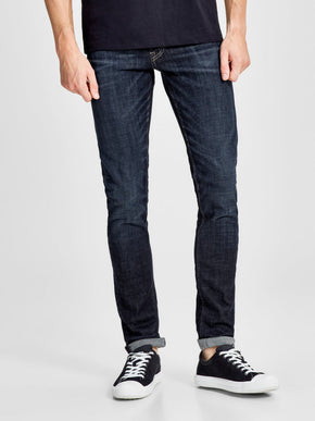 GLENN 022 SLIM FIT JEANS WITH BLEACHED DETAILS