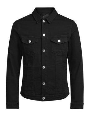 VESTE EN DENIM NOIR SUPER EXTENSIBLE