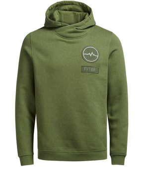 HOODIE WITH EMBROIDERED BADGES