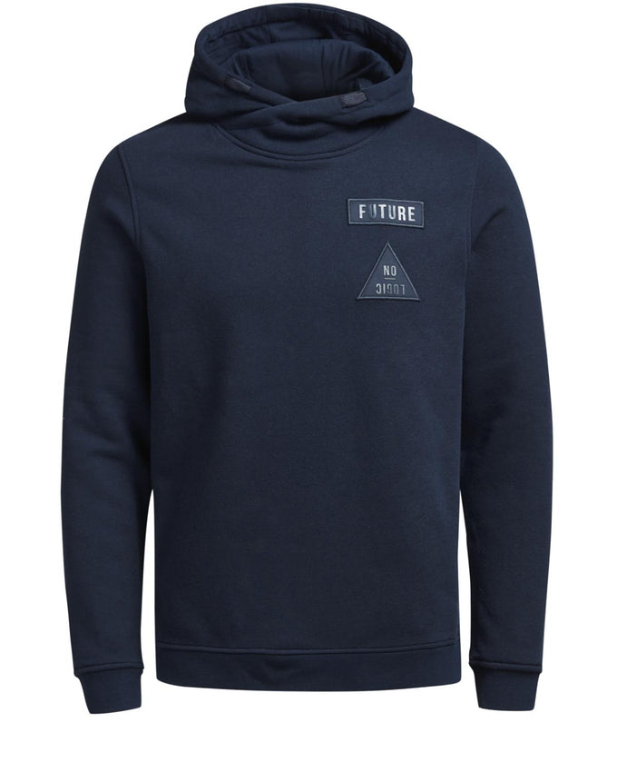 HOODIE WITH EMBROIDERED BADGES SKY CAPTAIN