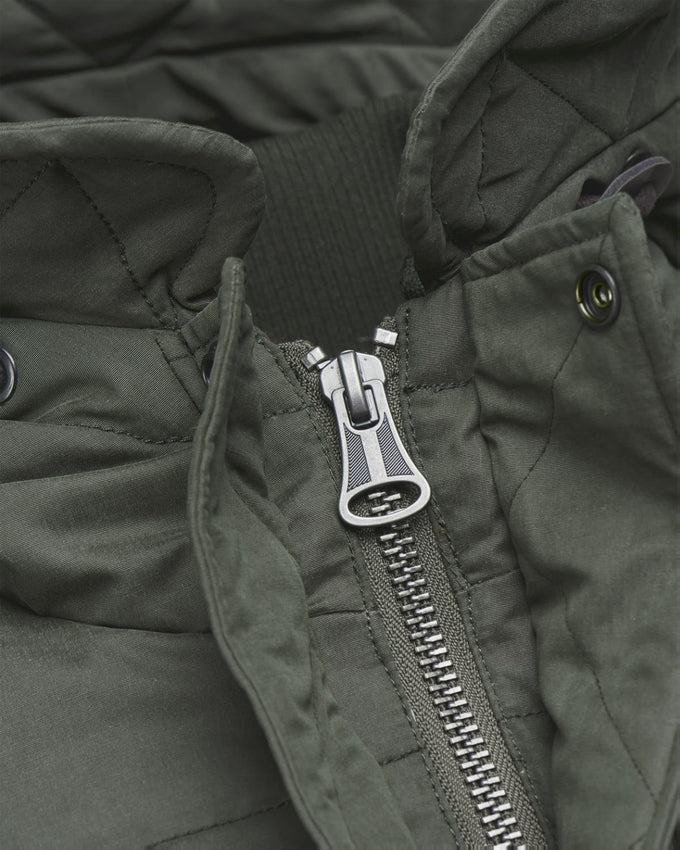 DOWN & FEATHER FILL PARKA OLIVE NIGHT