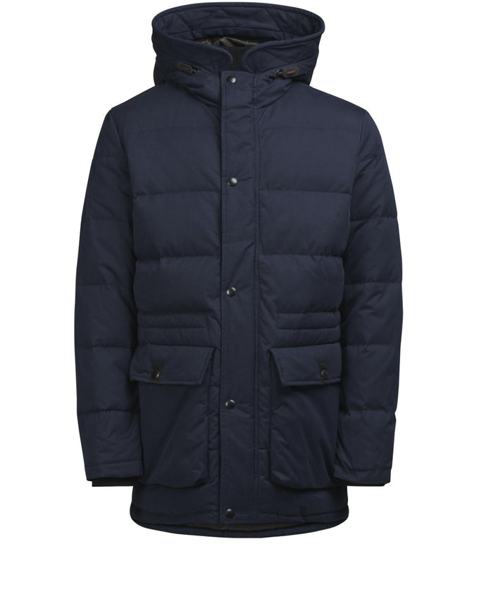 DOWN & FEATHER FILL PARKA DARK NAVY