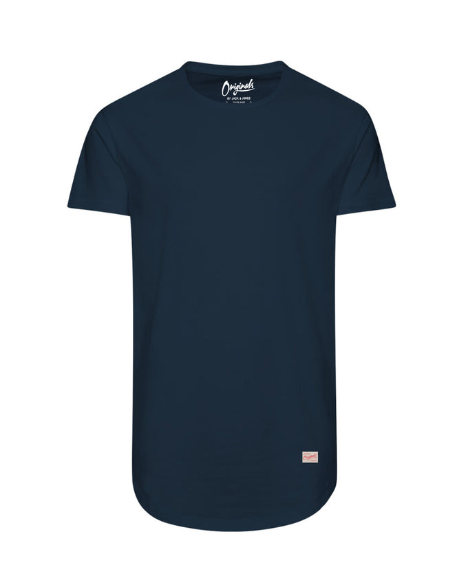 LONG CURVED T-SHIRT INSIGNIA BLUE