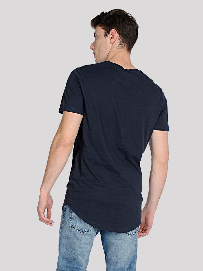 LONG CURVED T-SHIRT TOTAL ECLIPSE