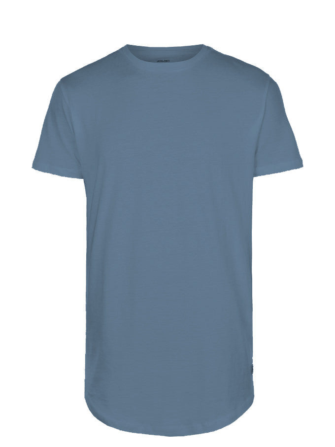 LONG CURVED T-SHIRT ENSIGN BLUE