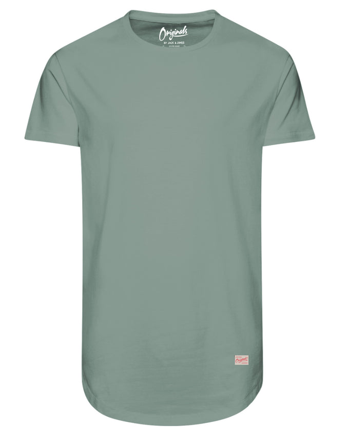 LONG CURVED T-SHIRT CHINOIS GREEN