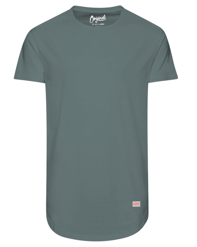 LONG CURVED T-SHIRT ICEBERG GREEN