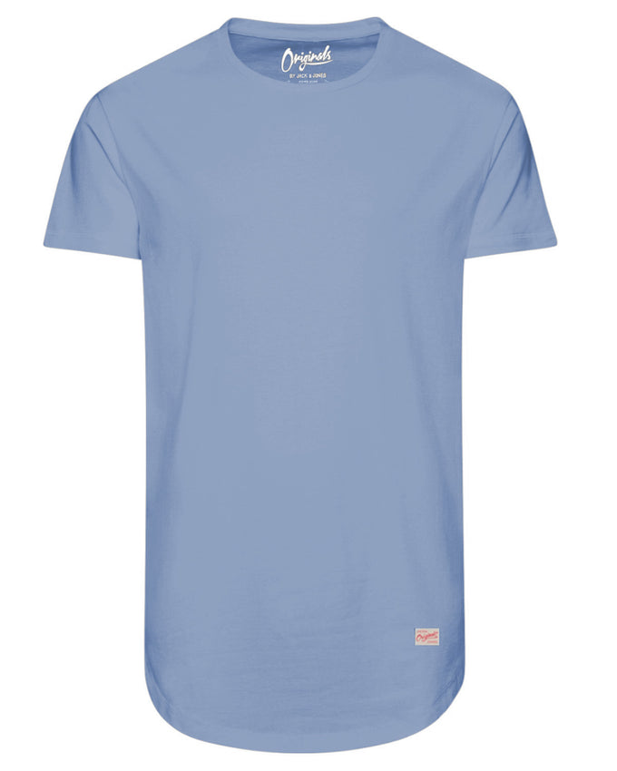 LONG CURVED T-SHIRT CASHMERE BLUE