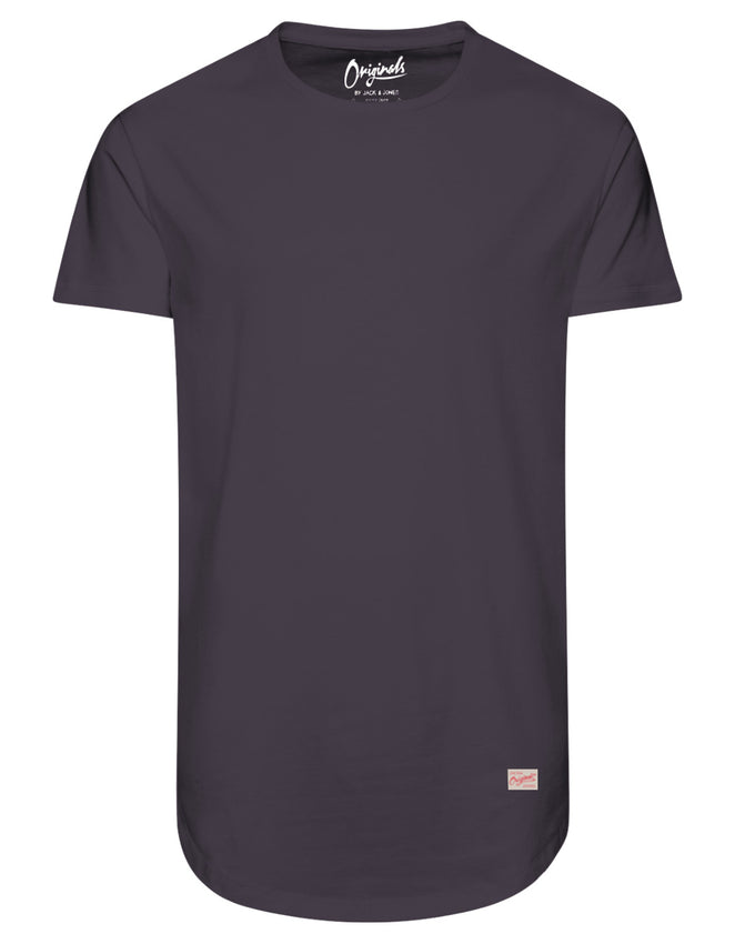 LONG CURVED T-SHIRT RAISIN