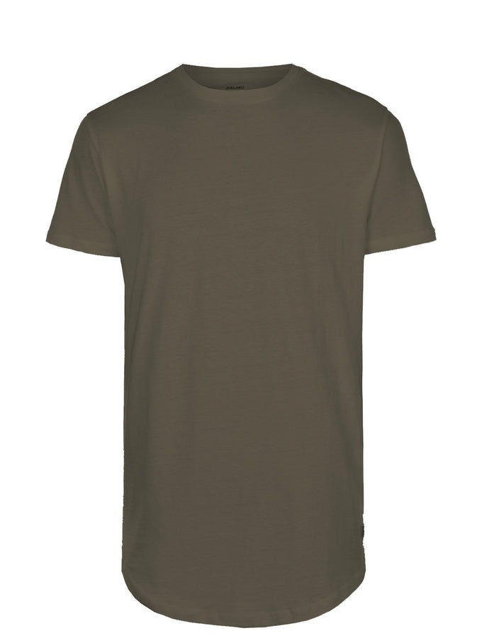 LONG CURVED T-SHIRT THYME