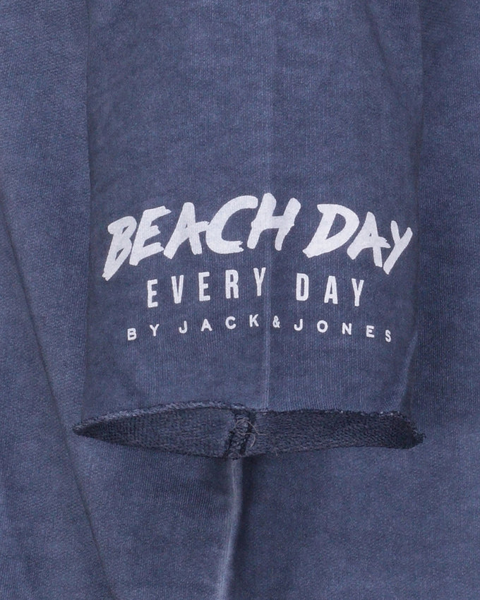 BEACH DAY EVERY DAY LONG FIT HOODIE TOTAL ECLIPSE