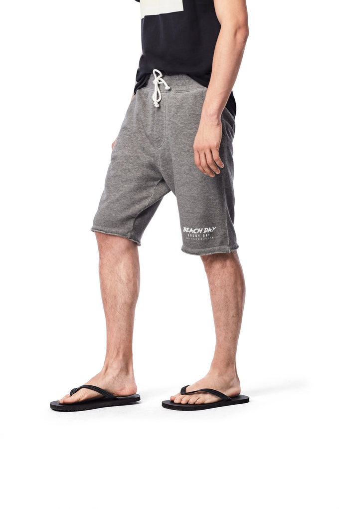 BEACH DAY EVERY DAY LOW RISE SWEAT SHORTS LIGHT GREY MELANGE