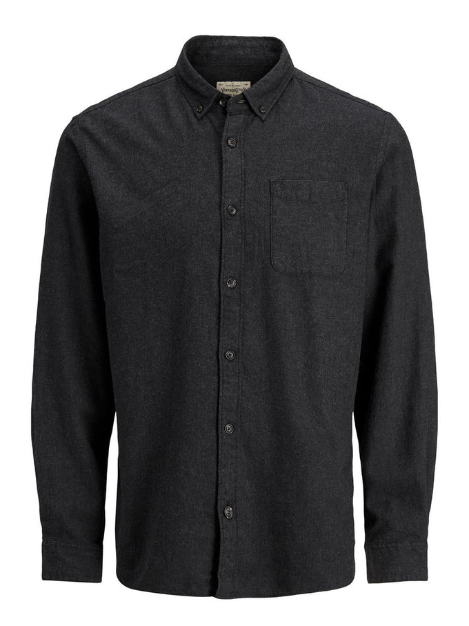 COMFORT FIT BRUSHED COTTON SHIRT CAVIAR
