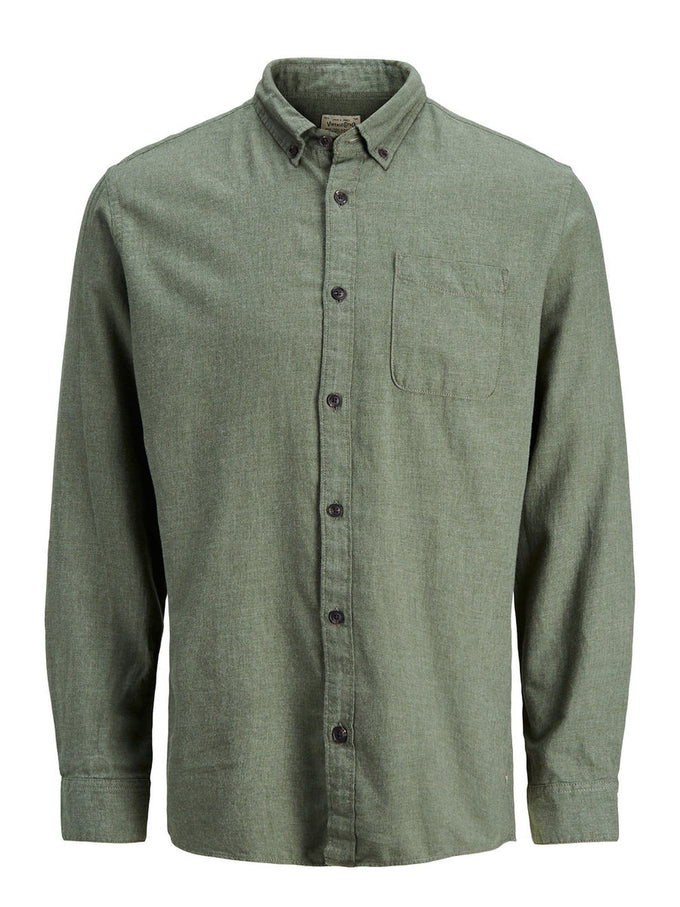 COMFORT FIT BRUSHED COTTON SHIRT SEA TURTLE