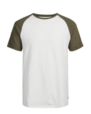 BASEBALL STYLE SHORT SLEEVE T-SHIRT