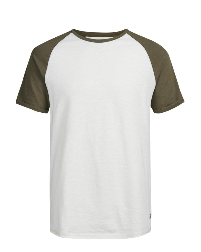 BASEBALL STYLE SHORT SLEEVE T-SHIRT CAPERS