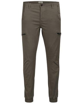 WALNUT JOGGERS WITH ZIPPED POCKETS