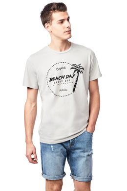 BEACH DAY EVERY DAY PALM PRINT T-SHIRT