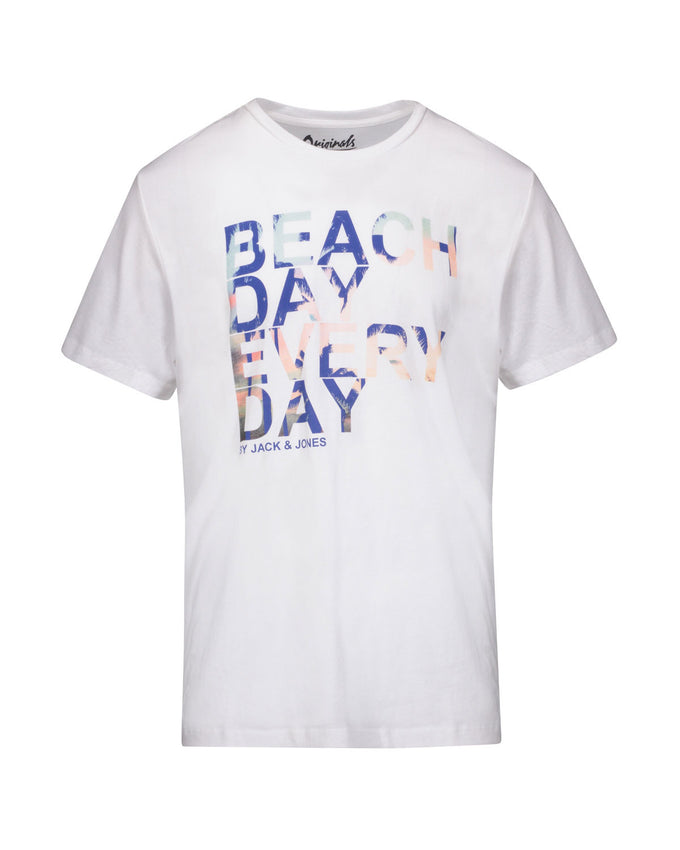 BEACH DAY EVERY DAY GRAPHIC PRINT T-SHIRT CLOUD