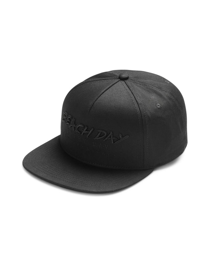 EMBROIDERED SNAPBACK HAT BLACK