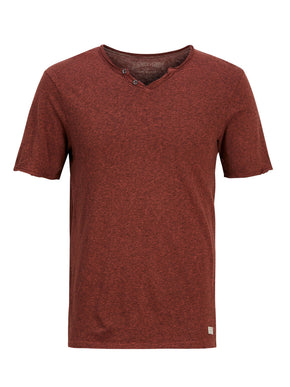 TWO-TONE HENLEY T-SHIRT