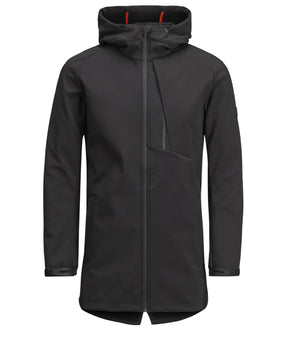 WATER-REPELLENT HIGH-LOW SOFTSHELL JACKET