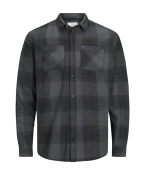 CHECKERED PATTERN STRETCH SHIRT