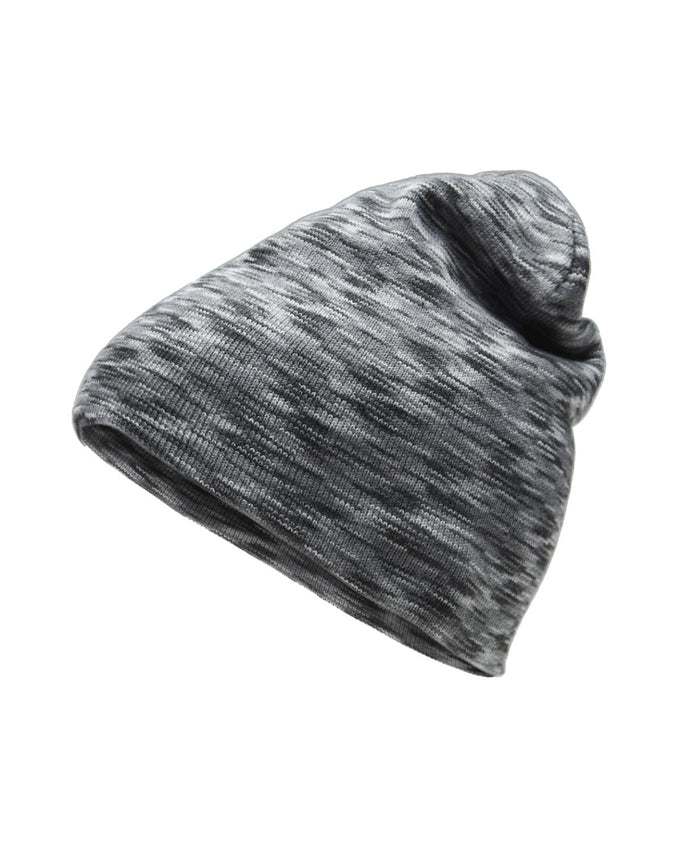 HEATHERED SLOUCH LONG BEANIE GREY MELANGE