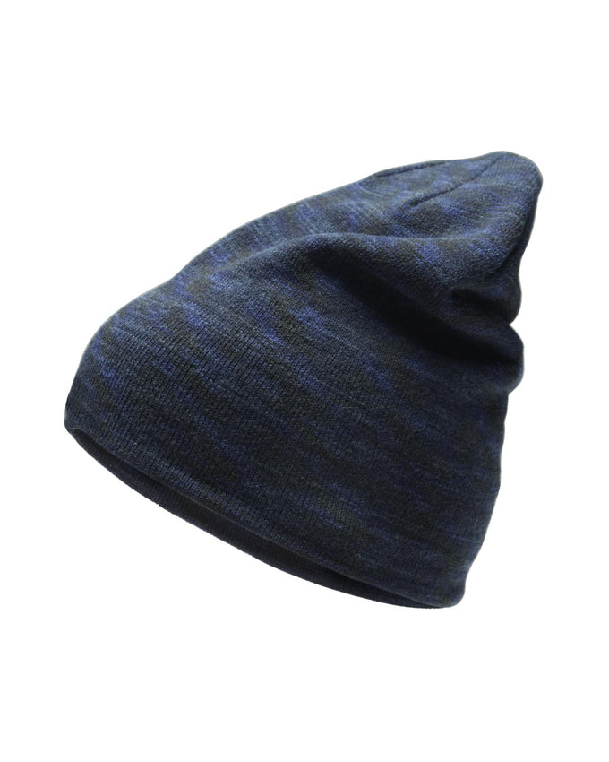 HEATHERED SLOUCH LONG BEANIE SKY CAPTAIN