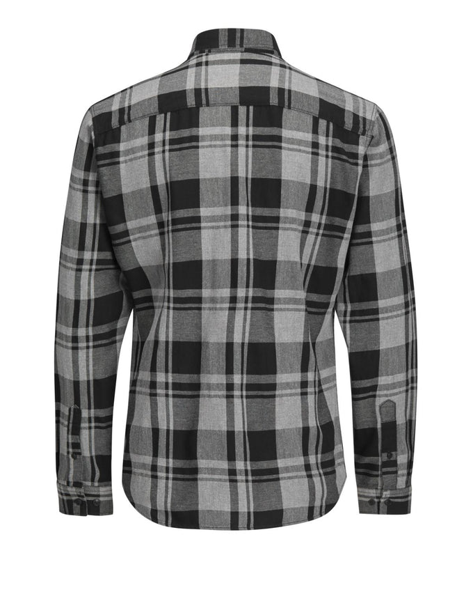 CHECKERED CORE FLANNEL SHIRT BLACK