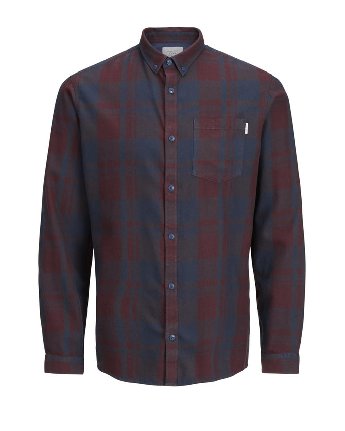 CHECKERED CORE FLANNEL SHIRT FUDGE