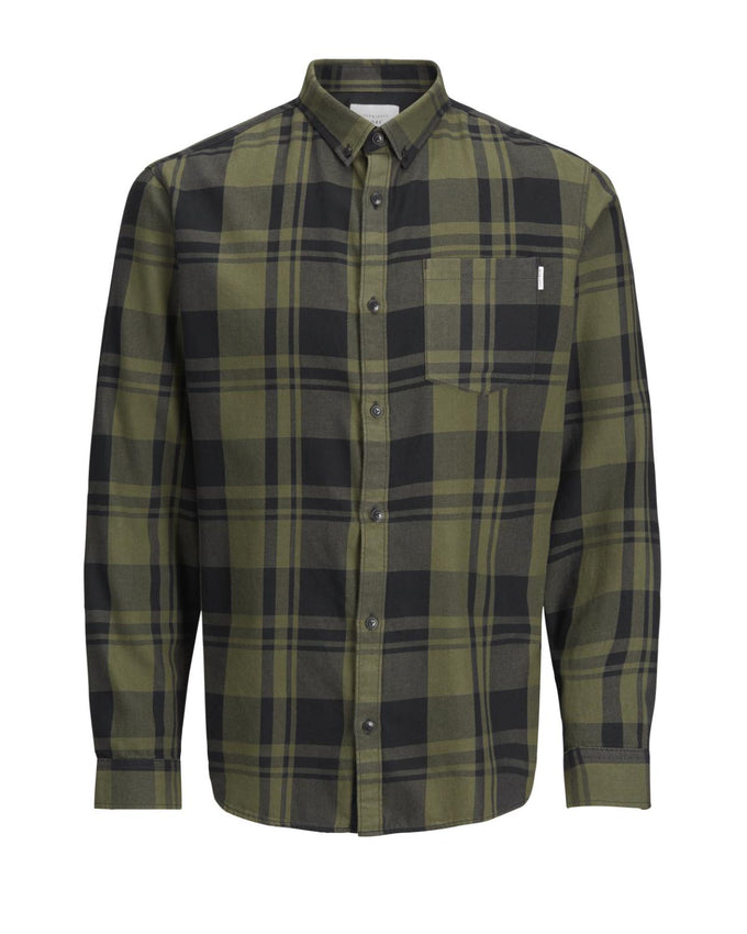 CHECKERED CORE FLANNEL SHIRT GRAPE LEAF