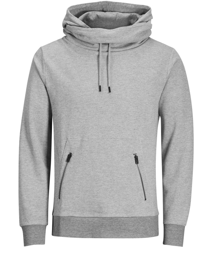 CORE HOODIE WITH DOUBLE HOOD LIGHT GREY MELANGE