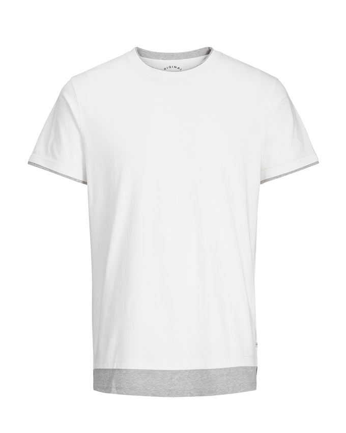DOUBLE LAYER T-SHIRT CLOUD DANCER