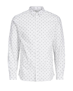 SKULL PRINT SLIM FIT SHIRT