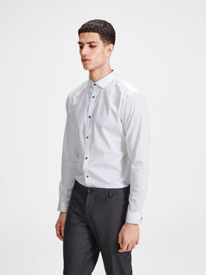 STRETCH DRESS SHIRT WITH PRINTED CUFFS