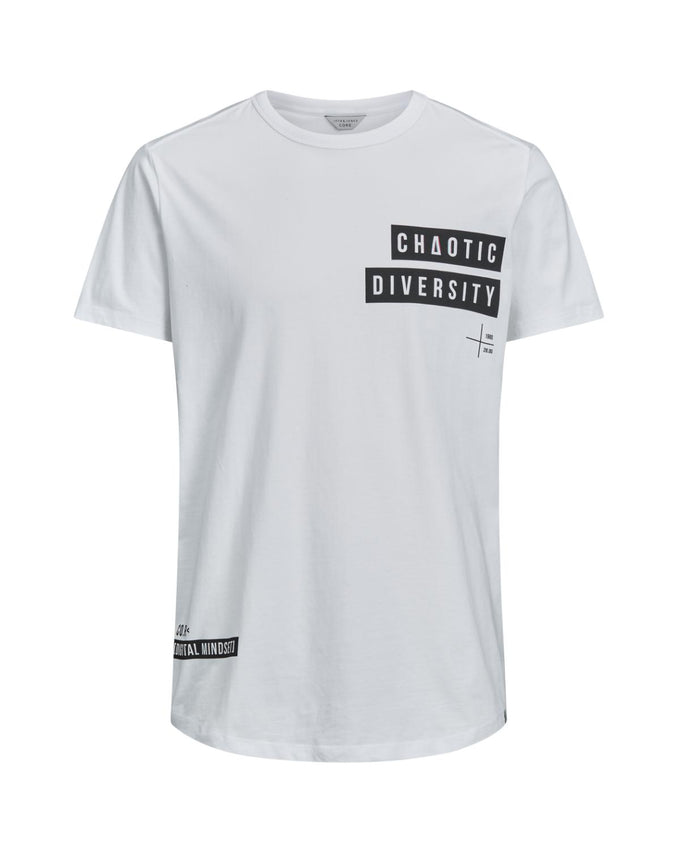 CORE T-SHIRT WITH TEXT STATEMENTS WHITE