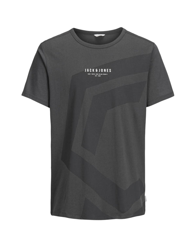 CORE T-SHIRT WITH A LARGE PRINT ASPHALT